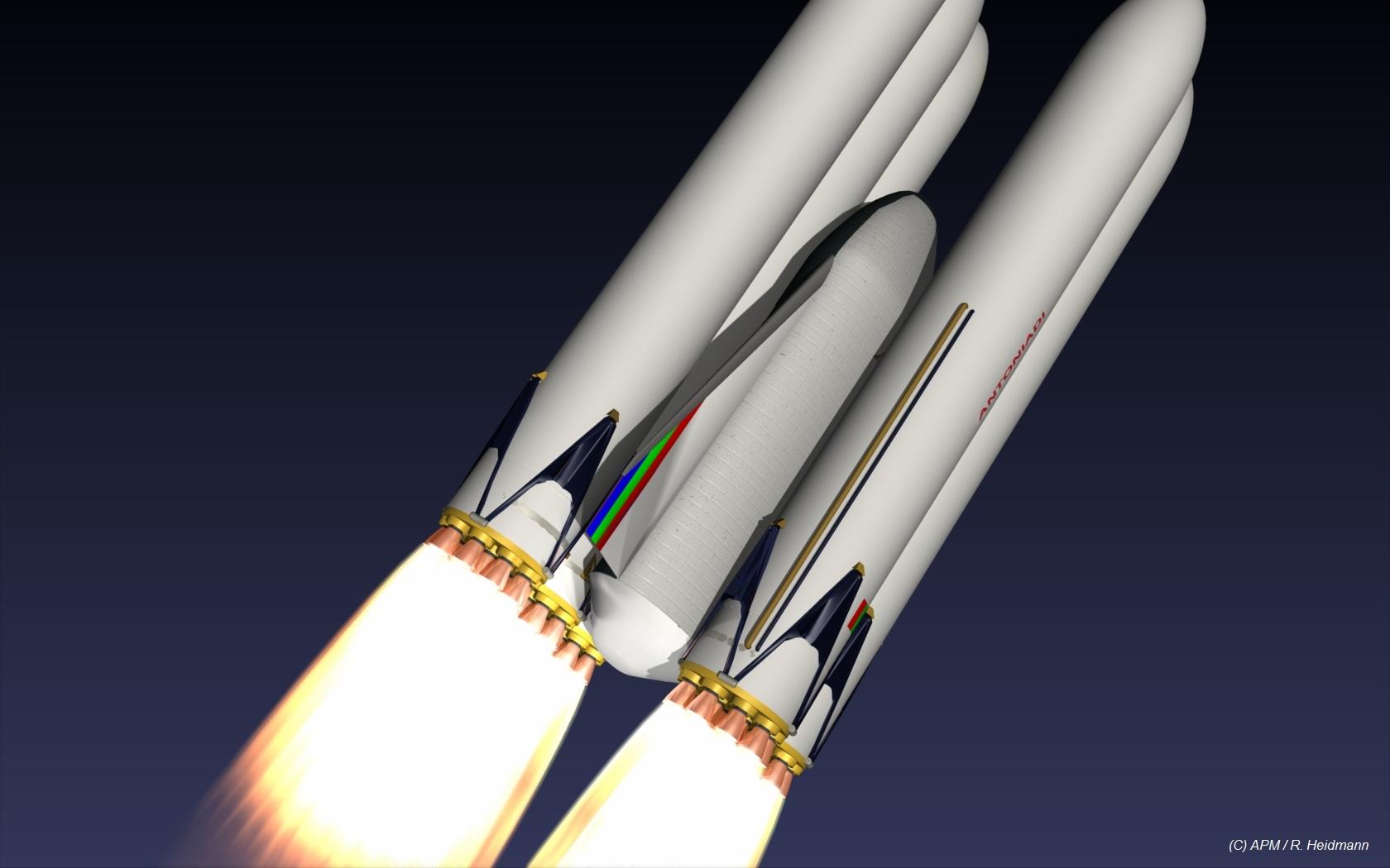 Déposer 100 T de charge utile sur Mars impliquerait un lanceur capable de 650 à 700 T en orbite terrestre (étude APM/R. Heidmann)