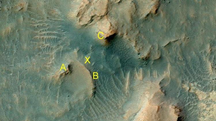 Localisation Curiosity détail