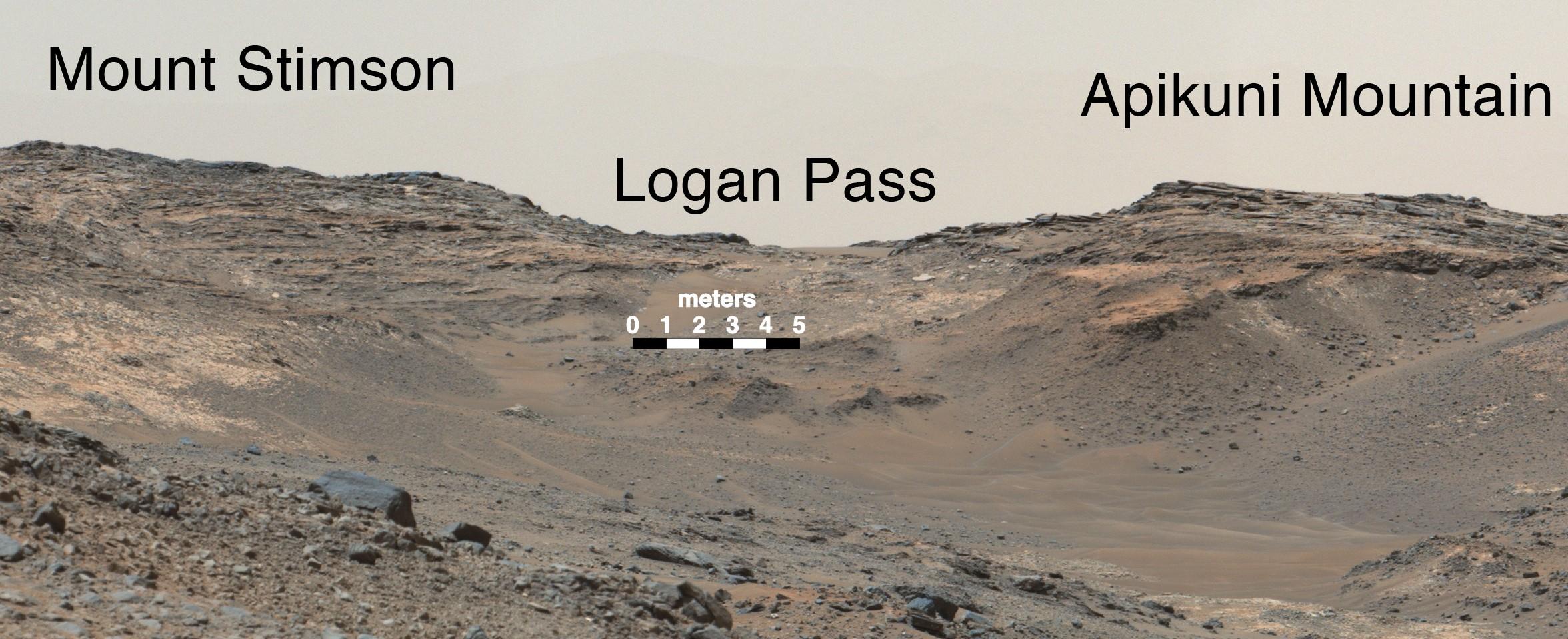 Zoom vers le col Logan