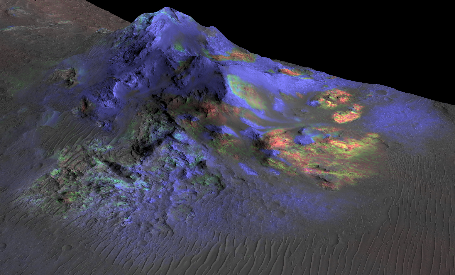 Mars-MRO-CRISM-Impact-Crater-Glass-pia19673-full