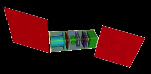 Définition préliminaire de BIRDY, proposée pour une maquette de tests en vibration. (doc. OBSPM/NCKU)