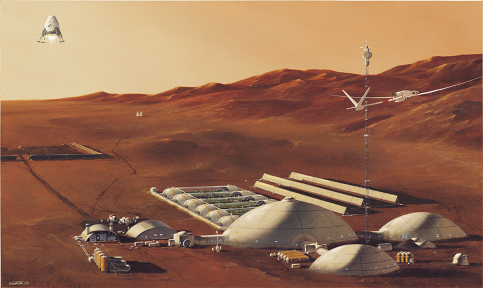 The permanent scientific base, where the technologies of a future Mars settlement will be developped. (© Manchu/APM)