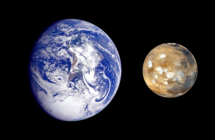 Earth and Mars: a family portrait. (doc. NASA / MSSS)