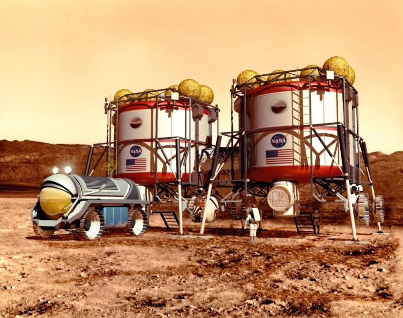 First exploration habitats (doc. NASA)