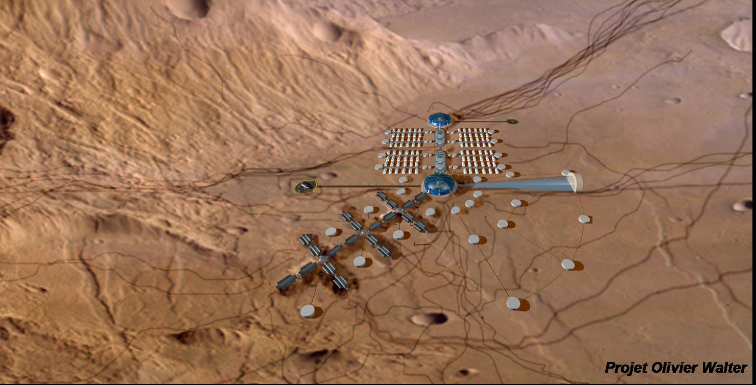 A developped Martian base project. (doc. O. Walter)