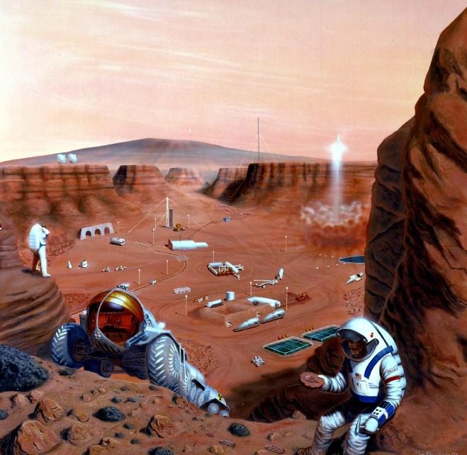 A permanent scientific base (doc NASA / Pat Rawlings)