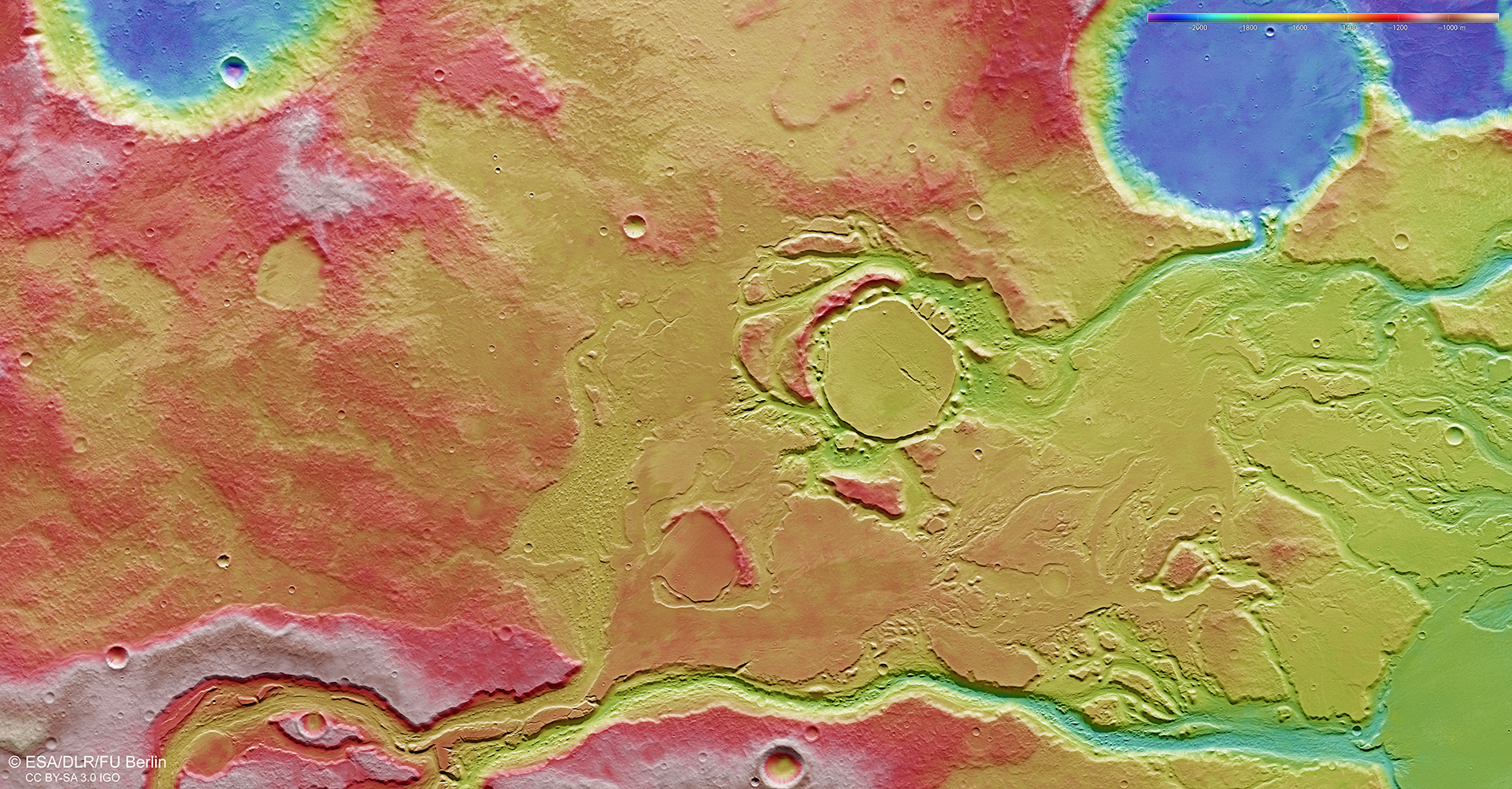 Mangala_Valles_topography