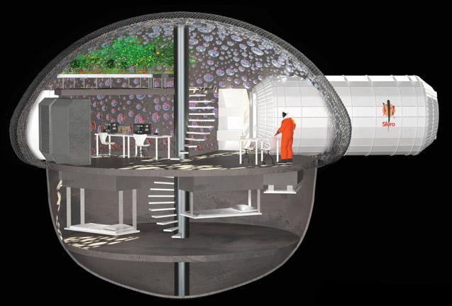 Le projet Sfero présenté à la NASA par la société Fabulous, conseillée par l'APM. (doc. Fabulous)