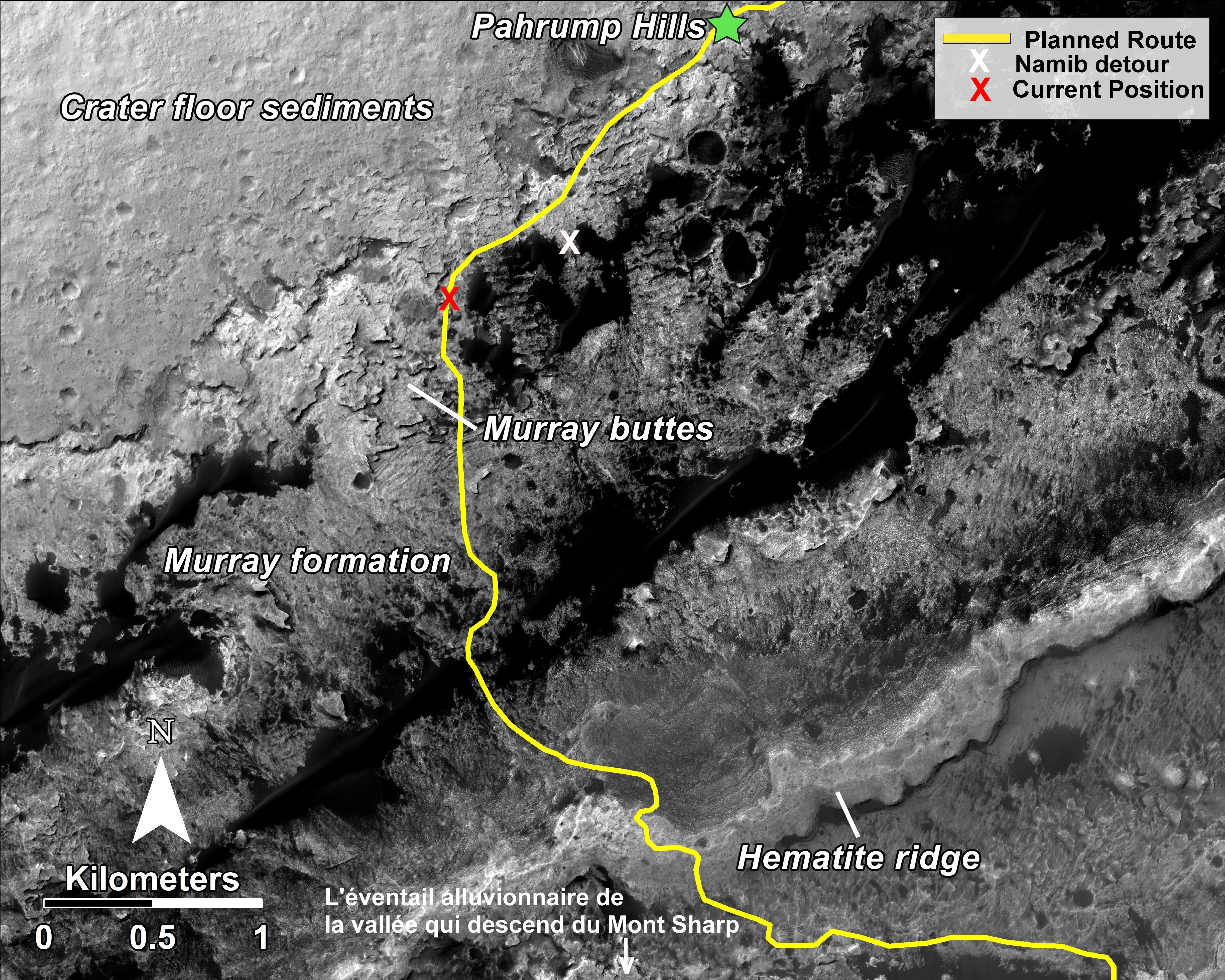 nasa-msl-mro-curiosity-rover-hirise-planned-route-map-pahrump-hills-to-mount-sharp-pia18780-full-renseigné-1 7 16