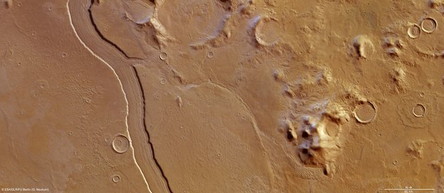 rivière martienne Reus Vallis MarsExpress ESA